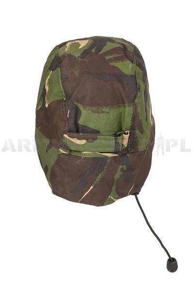 Military Waterproof British Ushanka Cap Cold Weather Goretex DPM Woodland Used