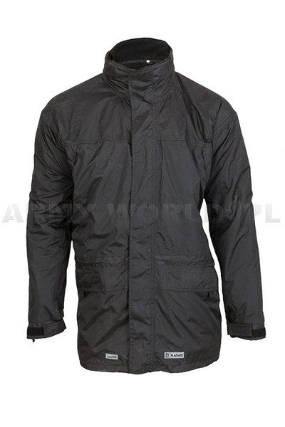 Military Winter Waterproof Jacket Planam With Fleece Lining Black Used
