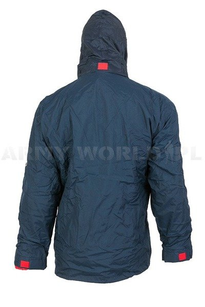 Military Winter Waterproof Jacket  With Fleece Lining Sportex Navy Blue Used
