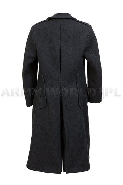 Military Winter Wool Coat Black Original Used