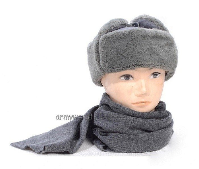 Military Wool Scarf German Grey Original Demobil