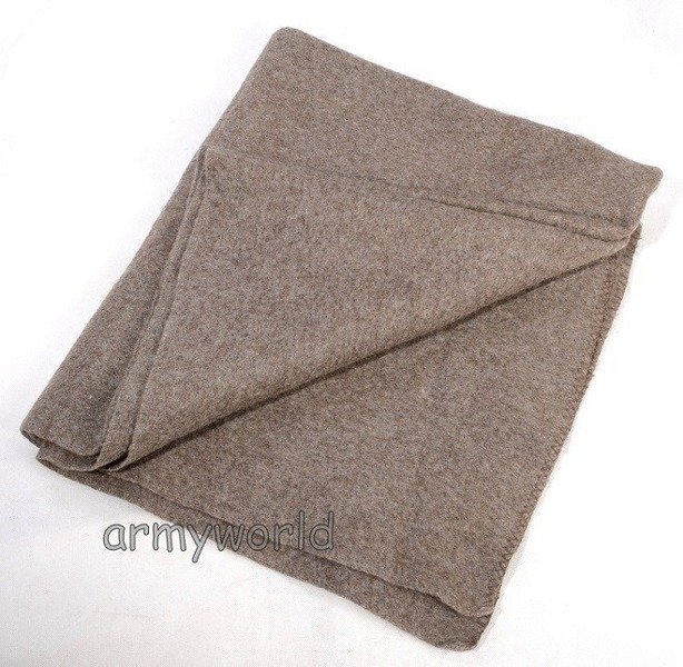 Military Woolen Blanket Bundeswehr 130 x 220 Original Demobil