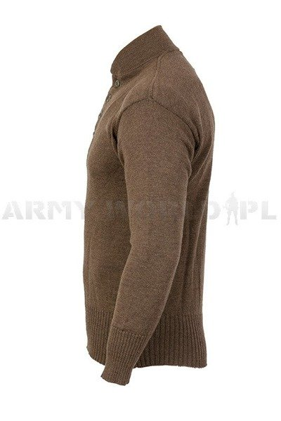 Military Woolen Sweater US ARMY Brown Original Used