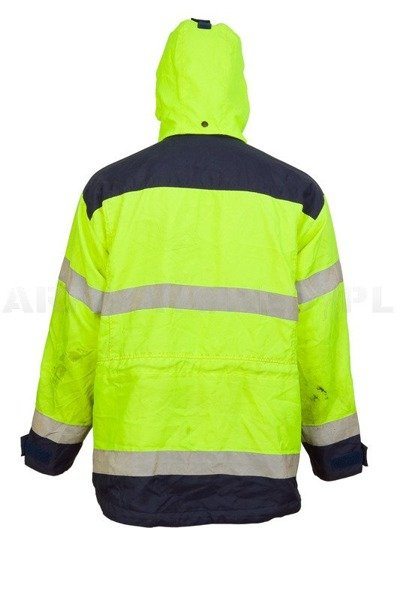 Military Working Jacket Fristads Reflective Waterproof  Used