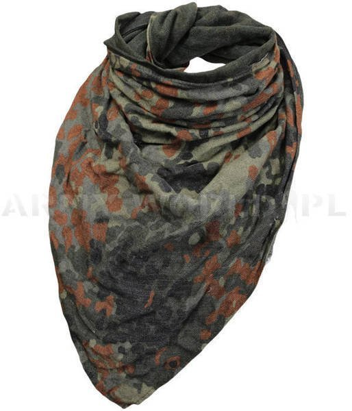 Military Wrapper Bandana Flecktarn Bundeswehr Original With Silk New