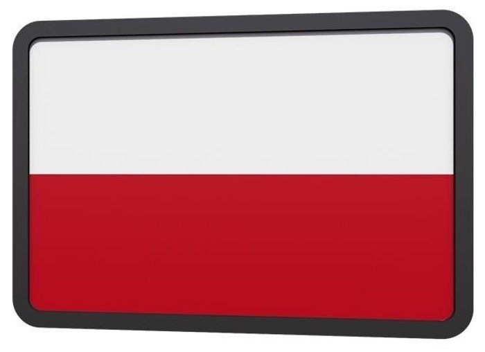 Military emblem PVC Polish flag white-red- Helikon-tex SET OF 2 PIECES
