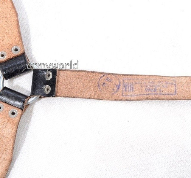 Militia Leather Belt Original Black Demobil SecondHand