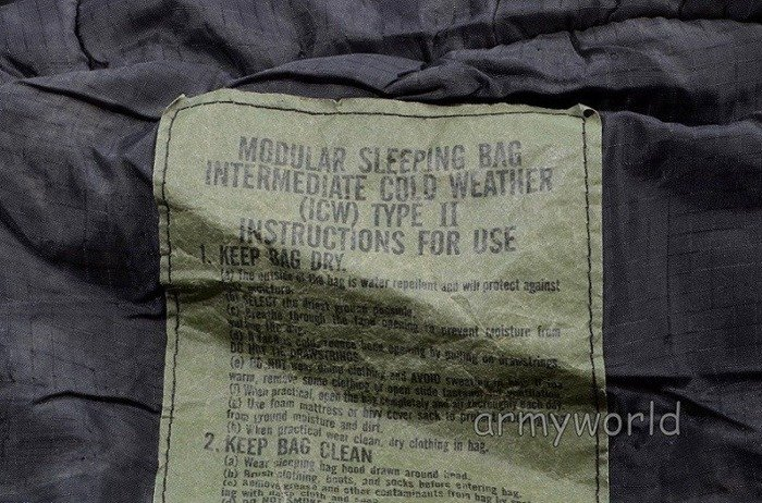 Modular Sleeping Bag US Army + Cover Woodland Gore-Tex Original Demobil