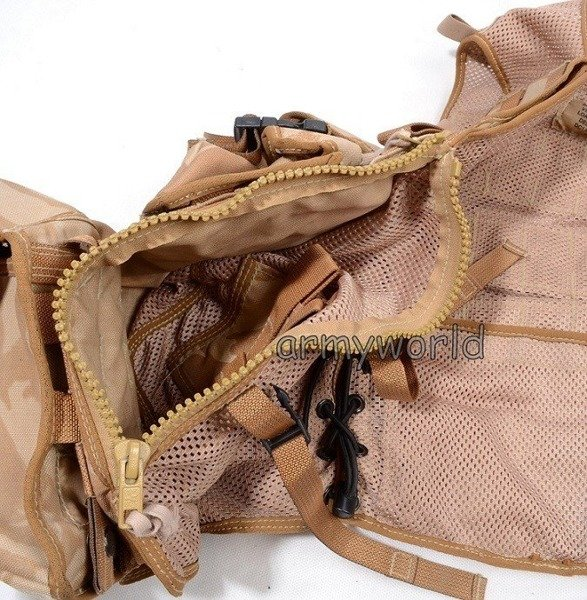 Modular Tactical Vest DPM DESERT + 9 Pouches Original Demobil