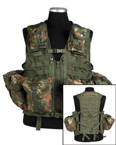 Modular Tactical Vest PAINTBALL Mil-Tec Flecktarn New