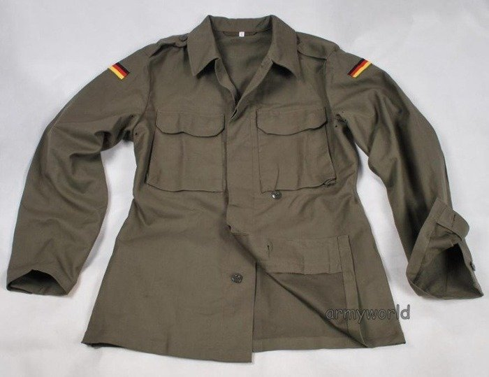 Moleskin German Military Shirt Bundeswehr Oliv Original Demobil