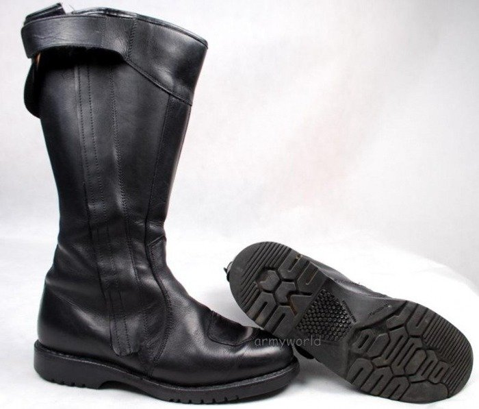 Motorcycle Jackboots Bundeswehr Original Demobil Good Condition