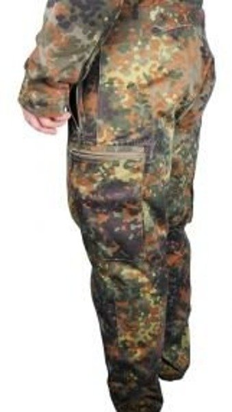 Motorcycle Two-pieces Suit Kard Flecktarn With Protectors + Liner Original