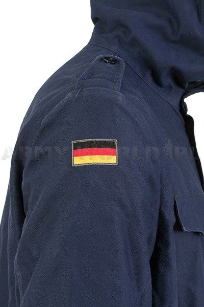 Navy Jacket Parka Dark Blue Warmed Original Demobil