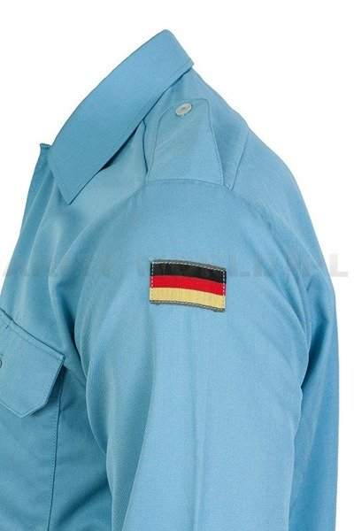 Navy Shirt Bundeswehr With Long Sleeves Blue Demobil