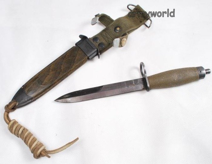 Norwegian Military Bayonet With Plastic Sheath Original Demobil