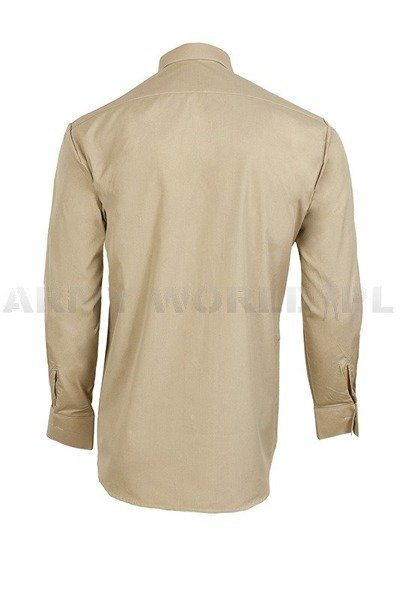 Officer Shirt with long sleeves 303/MON Original  Khaki New