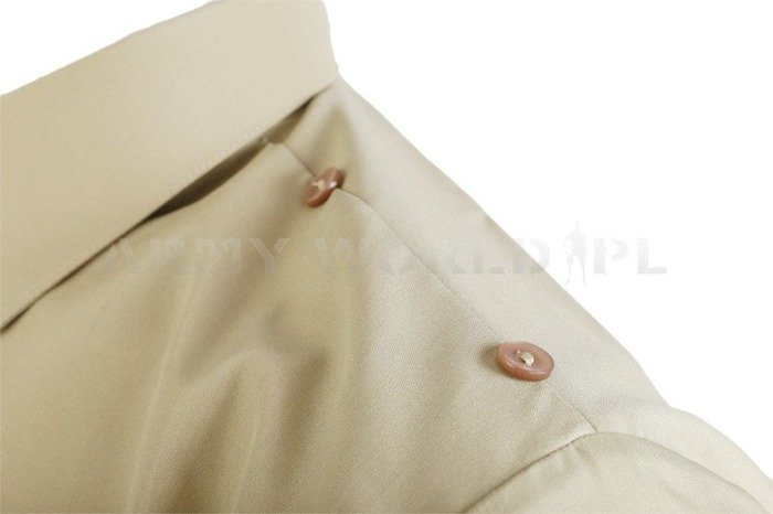 Officer Shirt with long sleeves 310/MON Original Khaki New