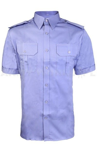 Officer Shirt with short sleeves  301/MON Original - Blue - New