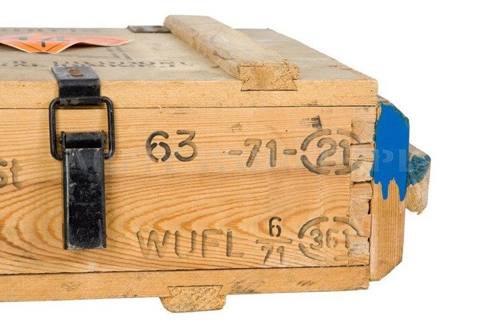 Original Wooden Box After Cartridges