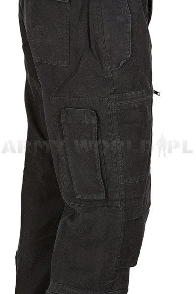 Pilot's Military Cargo Pants Mil-tec Black New