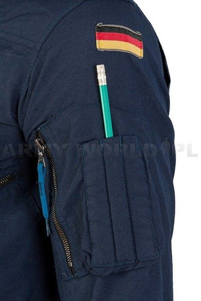 Pilot's Suit Flame-resistant 100% Aramid German Bundeswehr Dark Blue Demobil SecondHand
