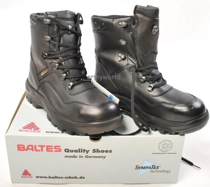 Police Leather Boots BALTES SYMPATEX Trial Version Sie 7 Original New Art. Nr 51002-M1