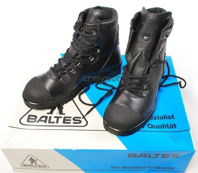 Police Leather Boots BALTES SYMPATEX Trial Version Size 42 Original New Art. Nr 801301