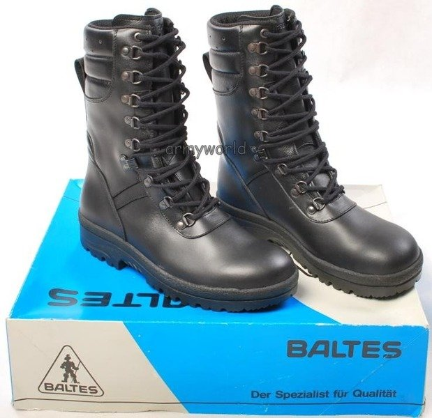 Police Leather Boots Baltes Trial Version Combat Boot Art .Nr 19684 New