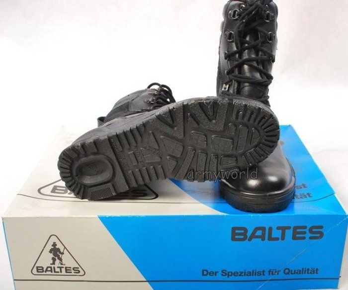 Police Leather Boots Baltes Trial Version With Material Insertion New II Quality Art .Nr 901352