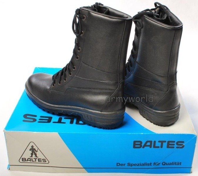 Police Leather Boots Baltes Vevey  Trial Version Quick-fastening System New