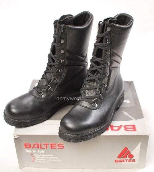 Police Leather Boots Baltes With Metal Tips Trial Version New Art .Nr 99500-P1 HIGH