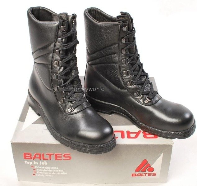 Police Leather Boots Baltes With Metal Tips Trial Version New Art .Nr 99500-P1 MID