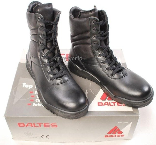 Police Leather Boots Baltes With Metal Tips Trial Version New Art .Nr 99500-P2 MID