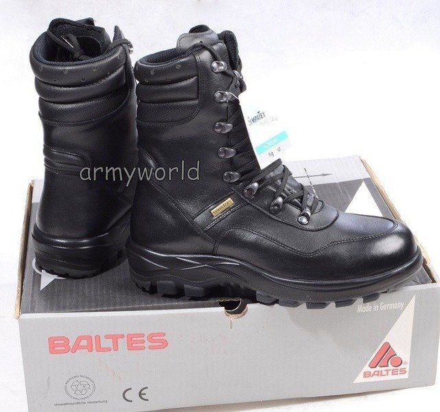 Police Leather Shoes BALTES S3  SYMPATEX Test Version Original New Art.nr 52105