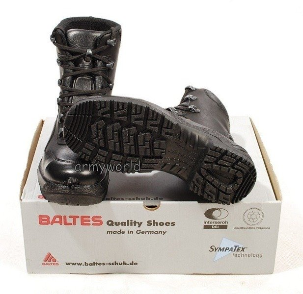 Police Leather Shoes BALTES SYMPATEX Einsatzstiefel S3 Trial Version II Quality Original New