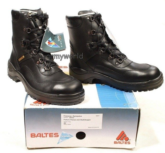 Police Leather Shoes BALTES SYMPATEX Trial Version Original New Art. Nr 38585