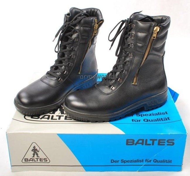 Police Leather Shoes Baltes Geneve With Side Zippers Trial Version New