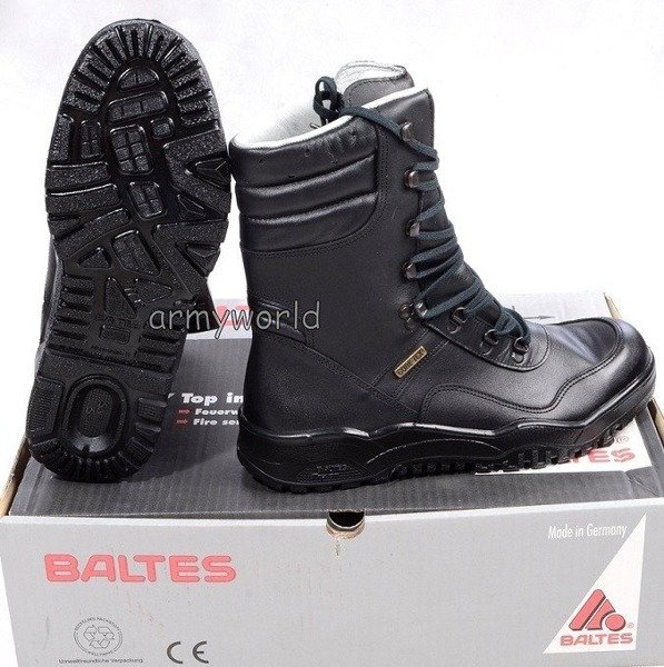 Police Leather Shoes Baltes Gore-tex Model Genesis Test Version Original New Art. Nr 37058