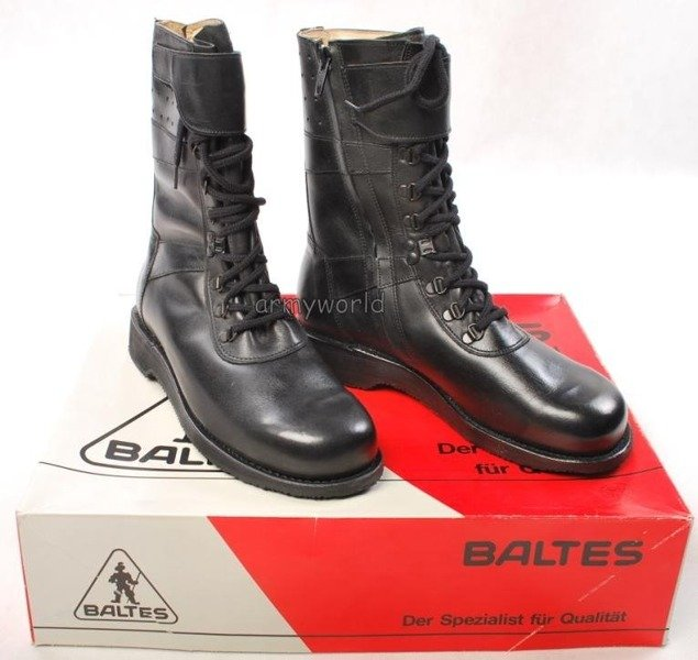 Police Leather Shoes Baltes With Side Zippers Trial Version New Art. Nr 2759