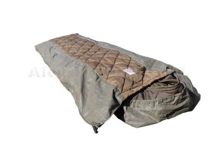 Police Sleeping Bag Bundeswehr With Rubber on Back With Case Original Demobil Used