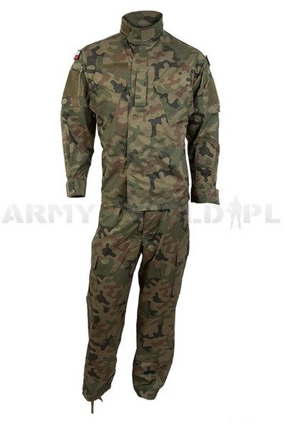 Polish Field Military Uniform All-Year-Round  Wz. 2010 Wzór 123 UP / MON Set Shirt+Trousers Original Used