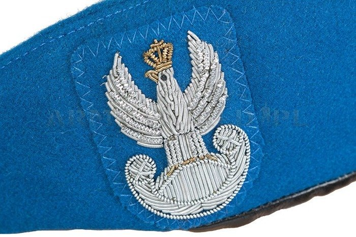 Polish Military Beret Blue With Eagle Embroidered Using Wire Original New