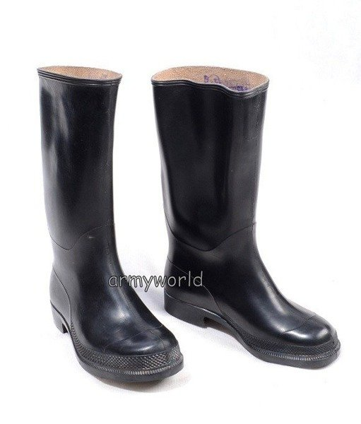 Polish Military Black wellingtons Original New