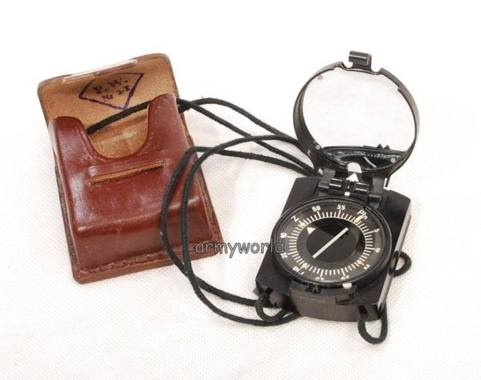 Polish Military Compass AK With leather cover New