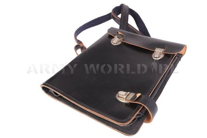 Polish Military Leather Report Bag / Mapnik WP Original New