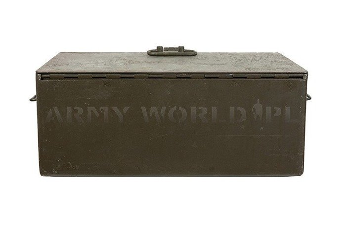 Polish Military Metal Chest Oliv original Demobil SecondHand