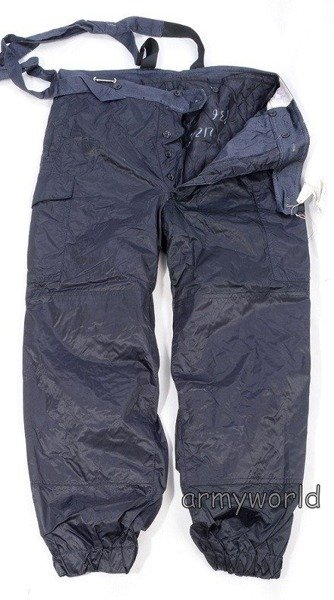 Polish Military Waterproof trousers - warmed Black Original New
