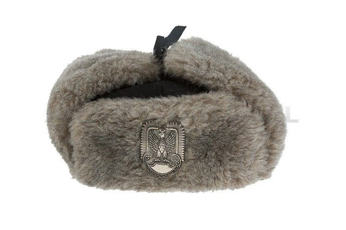 "Polish Military Winter Cap ""Uszatka"" cap  With Fur original Demobil - SecondHand"