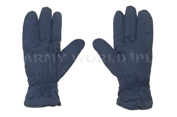 Polish Military Winter Gloves Civil Defence Polish Army Navy Blue New